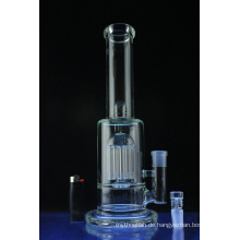 Domed Showerhead Perc Straight Tube Glas Wasserpfeife (ES-GB-585)